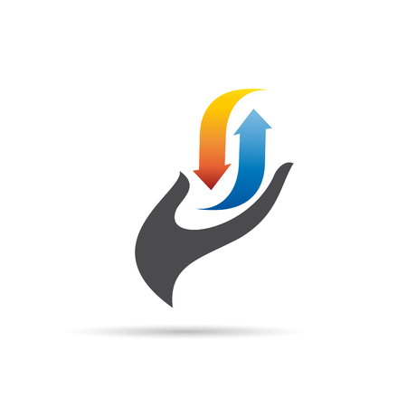 Vector logo domestic heating and cooling. Abstract illustration Иллюстрация