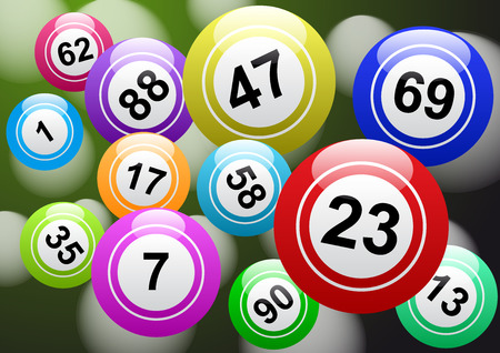 Bingo lottery, lucky balls and numbers of lotto