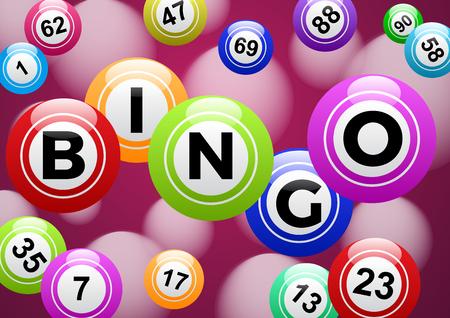 Lottery bingo game Vectores