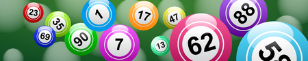 Lucky balls and numbers of lotto 일러스트