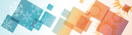 Vector abstract background digital domestic heating and cooling. Header and banner