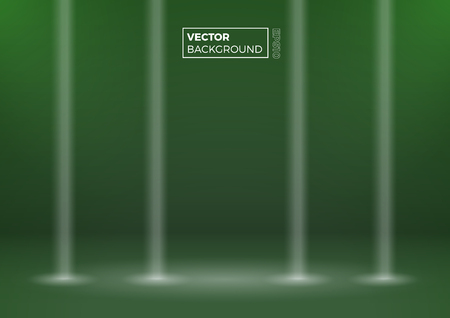 Blank room. Modern abstract gradient green background, vector illustration with copy space Standard-Bild - 126290216