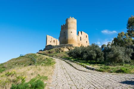 Sicilian castles. Mazzarino Medieval Castle.