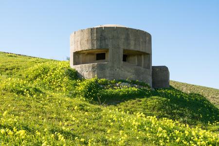 German bunker in Sicily, near Gela Reklamní fotografie