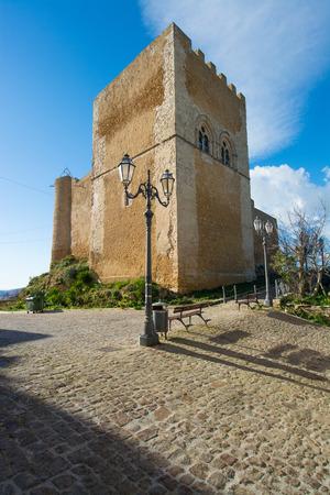 Sicilian castles. Naro Medieval Castle. 免版税图像