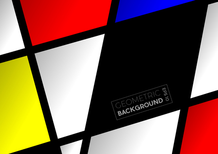 Geometric abstract  polygons with Mondrian colors