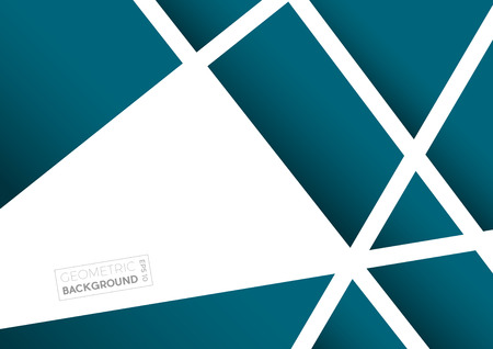 Geometric abstract blue polygons, vector background Illustration