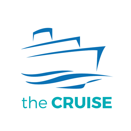 Cruise, ship drawing graphic design Banco de Imagens - 117092236