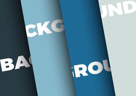 Vector  with 4 sheets of colored paper Illusztráció
