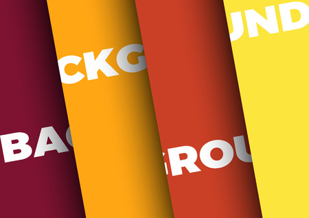 Vector background with 4 sheets of colored paper Illustration