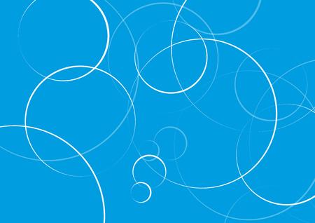 Abstrakte minimale geometrische runde Kreisformen entwerfen Hintergrund in Blau, Kopienraum