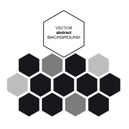 Vector hexagon background in black Ilustração