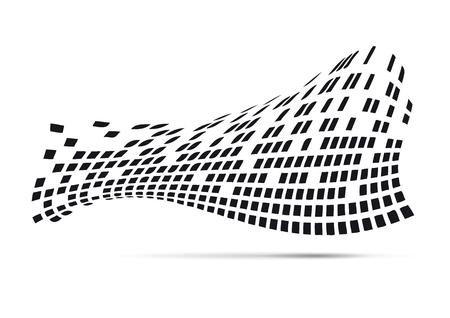 Fond de vecteur abstrait numérique, en noir