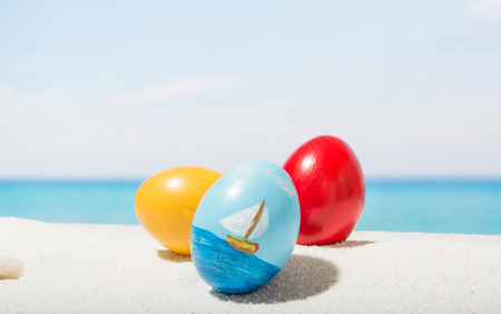 Easter on tropical beach Stock Photo