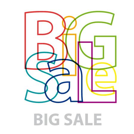 Wording big sale. Broken text