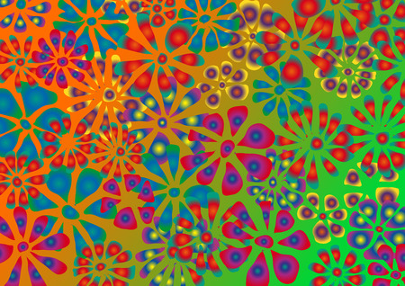 Spring, vector background. Springtime and flowers.Vector illustration. Vibrant colors 向量圖像