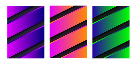 Abstract vector  with stripes.