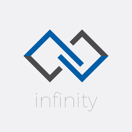 Vector logo infinite. Teamwork and union concept