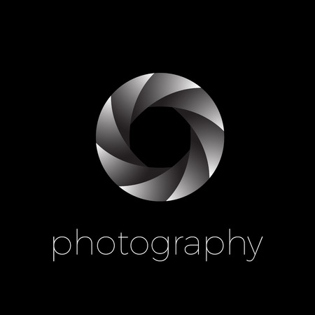 Vector icon diaphragm and eye, photography concept 向量圖像