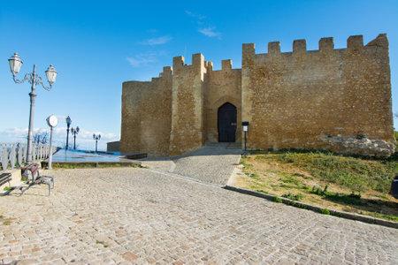 Sicilian castles. Naro Medieval Castle. 新聞圖片