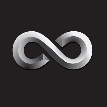 Vector infinito. Concepto de trabajo en equipo y unión