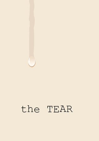 Tear, weeping on the white sheet, a concept of sadness and suffering. Vector background with teardrop Ilustrace