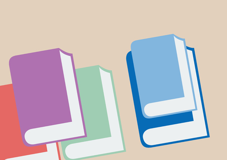 Book and bookstore. Vector poster, cover and flyer.Simple abstract shapes