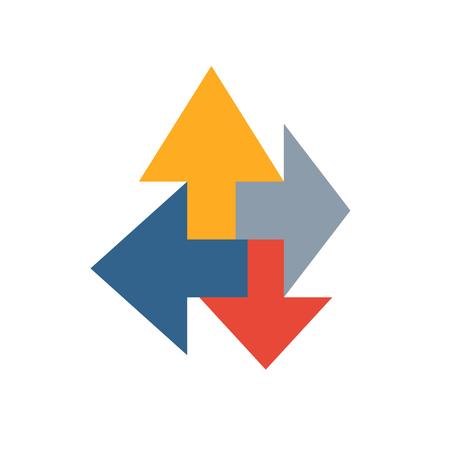 Synergy concept. Arrows Stock Illustratie
