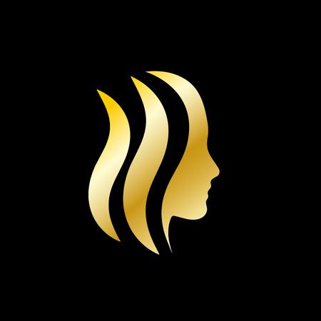 Beauty hair, hairdresser for woman. Golden head