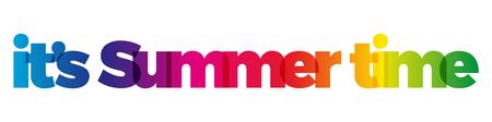 Het woord zijn zomertijd.