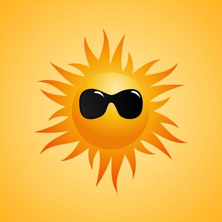vector  human sun with sunglasses