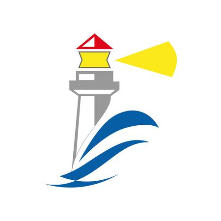 Einfacher Leuchtturm auf Weiß