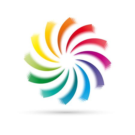 Air cooler, air conditioning, ventilator. Rainbow Vortex Ilustrace