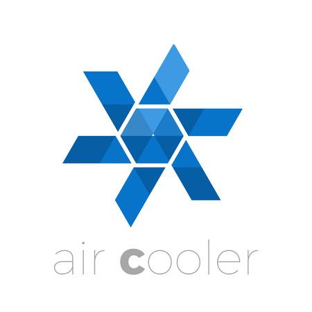Air cooler, air conditioning, ventilator 矢量图像