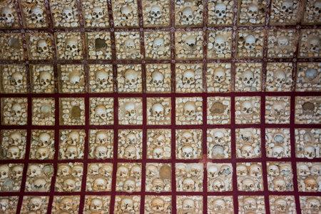 Igreja do Carmo Famous bone chapel, Faro, Algarve. Portugal
