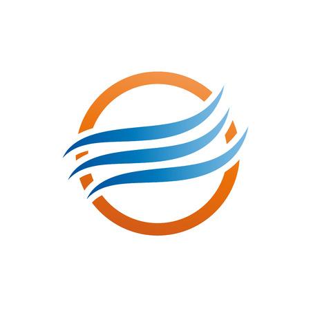 Vektor abstraktes Logo Klimaanlage, Klimaanlage