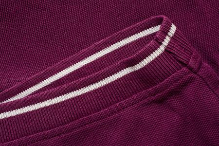 Purple polo shirt texture, cotton fabric. Textile background