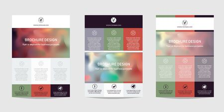 Design template for Brochure, Flyer or Depliant for business purposes