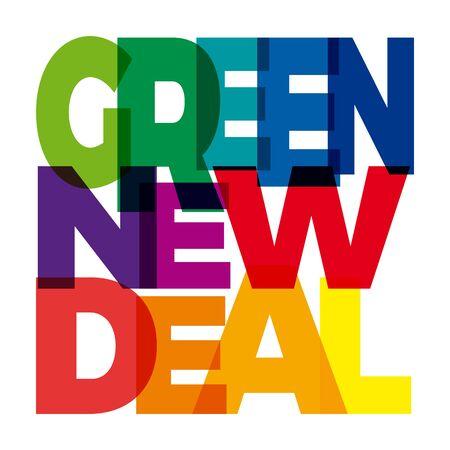 Vector Green New Deal. Broken text Illusztráció