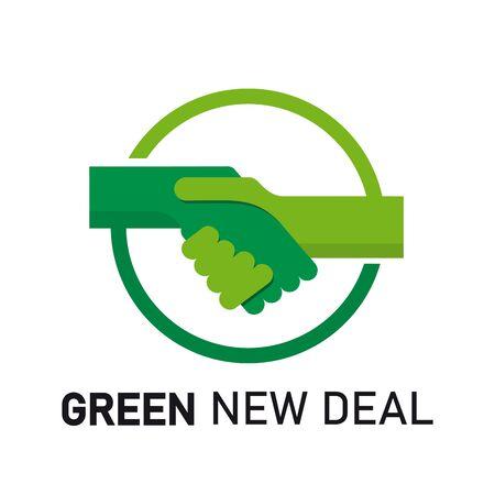 Green New Deal Logo Template Design Vector Illusztráció
