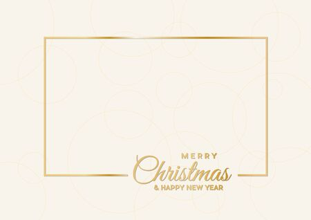 Merry Christmas ,empty background, made with golden frame and text
