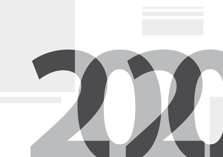2020, happy new year. Vector creative number