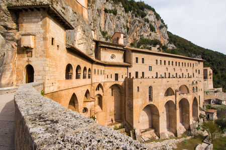 Monastery of Sacred Cave (Sanctuary of Sacro Speco) of Saint Benedict in Subiaco, province of Rome, Lazio, central Italy.