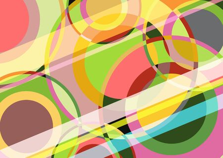 Abstract geometric colorful vector background with circles