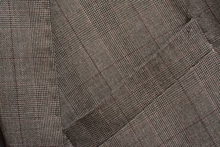Detail of a man's business suit. Tailoring background Stockfoto