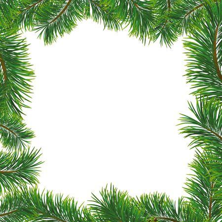 Weihnachten mit Tannenzweigen.