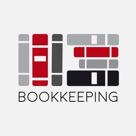 Bookkeeping abstract office file folder Vektorové ilustrace