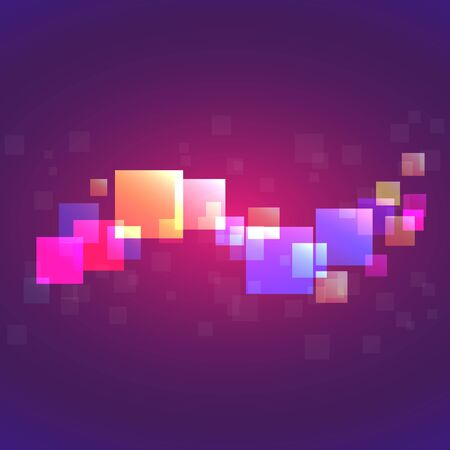 Colored pixel. Vector concept of network, background in color trend 2020, pink, purple and blue