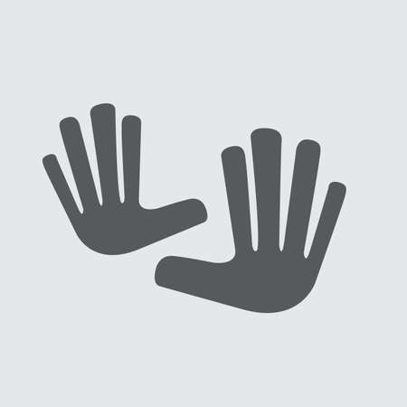 Vector logo, two hands touching