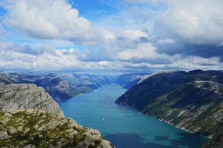 Fjord in Norway Foto de archivo
